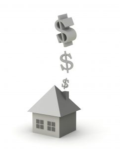 money-going-up-chimney